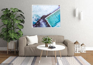 Bondi Birds Eye Framed Canvas