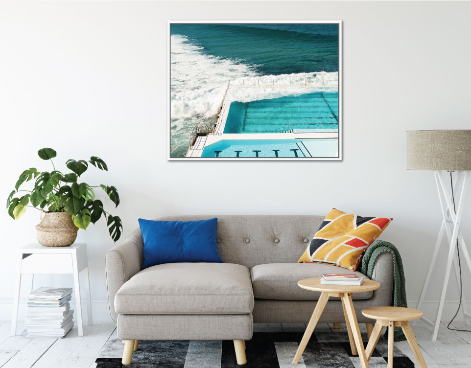 Bondi Waves Framed Canvas
