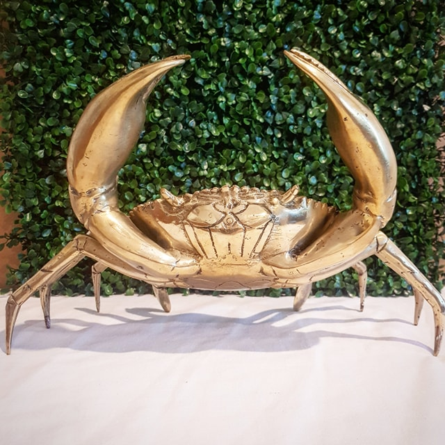 Extra Large Brass Crab