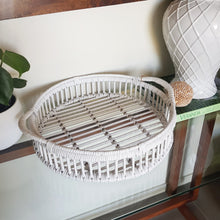 Load image into Gallery viewer, Bahama White Rattan Round Tray