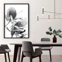 Load image into Gallery viewer, Banksia Flower Duo Black and White - Art Print