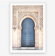 Load image into Gallery viewer, Blue Moroccan Doorway Print