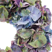 Load image into Gallery viewer, Blue and Purple Hydrangea Mix Wreath