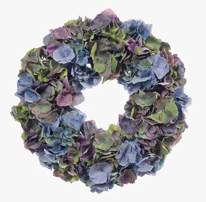 Blue and Purple Hydrangea Mix Wreath