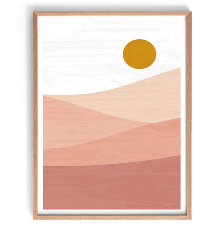 Blush Mountain Original Illustration Print