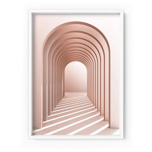 Blush Pink Arches - Art Print
