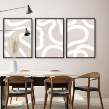 Load image into Gallery viewer, Boho Abstracts White Lines II Art Print