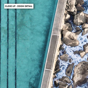 Bronte Rock Pool Aerial I - Art Print