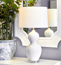 Load image into Gallery viewer, Bronte White Ceramic Table Lamp