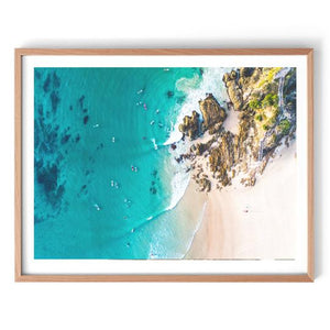 Byron Beach Aerial Photography Print