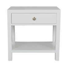 Load image into Gallery viewer, Catalina Crossed White Bedside / Side Table