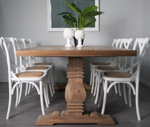 White Crossback Dining Chair