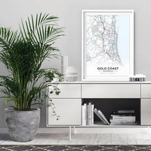 Load image into Gallery viewer, City Maps - Gold Coast - Art Print
