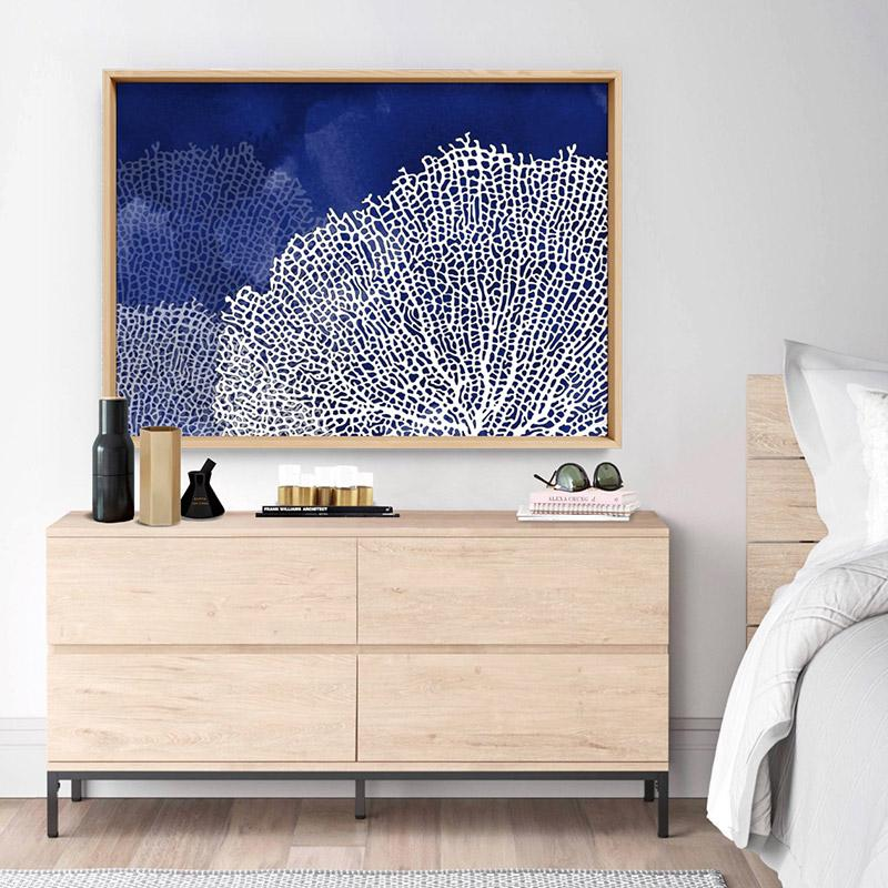 Coral Sea Fans Landscape Blues - Art Print