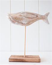 Load image into Gallery viewer, White Wash Timber Fish