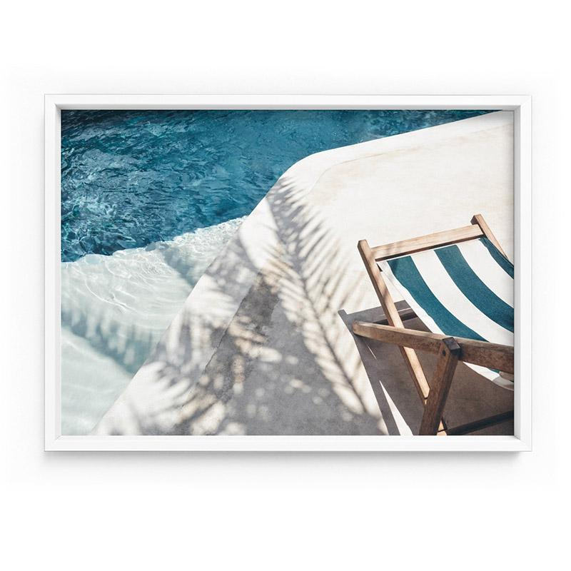 Daydreams by the Pool - Art Print