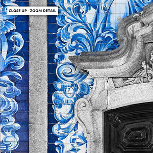 Doorway to Capela das Almas Porto - Art Print
