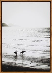 Early Morning Surf Framed Print