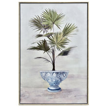Load image into Gallery viewer, Potted Fan Palm Timber Framed Print