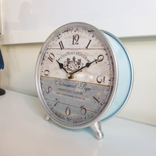 Load image into Gallery viewer, French Provincial Style Metal Table Clock
