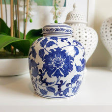 Load image into Gallery viewer, Floral and Vine Ceramic Ginger jar