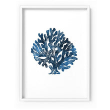 Load image into Gallery viewer, Hamptons Watercolour Blue Coral II - Art Print