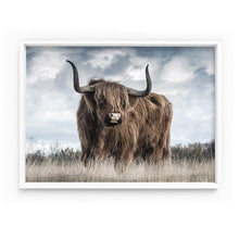 Load image into Gallery viewer, Highland Cow Landscape II - Art Print