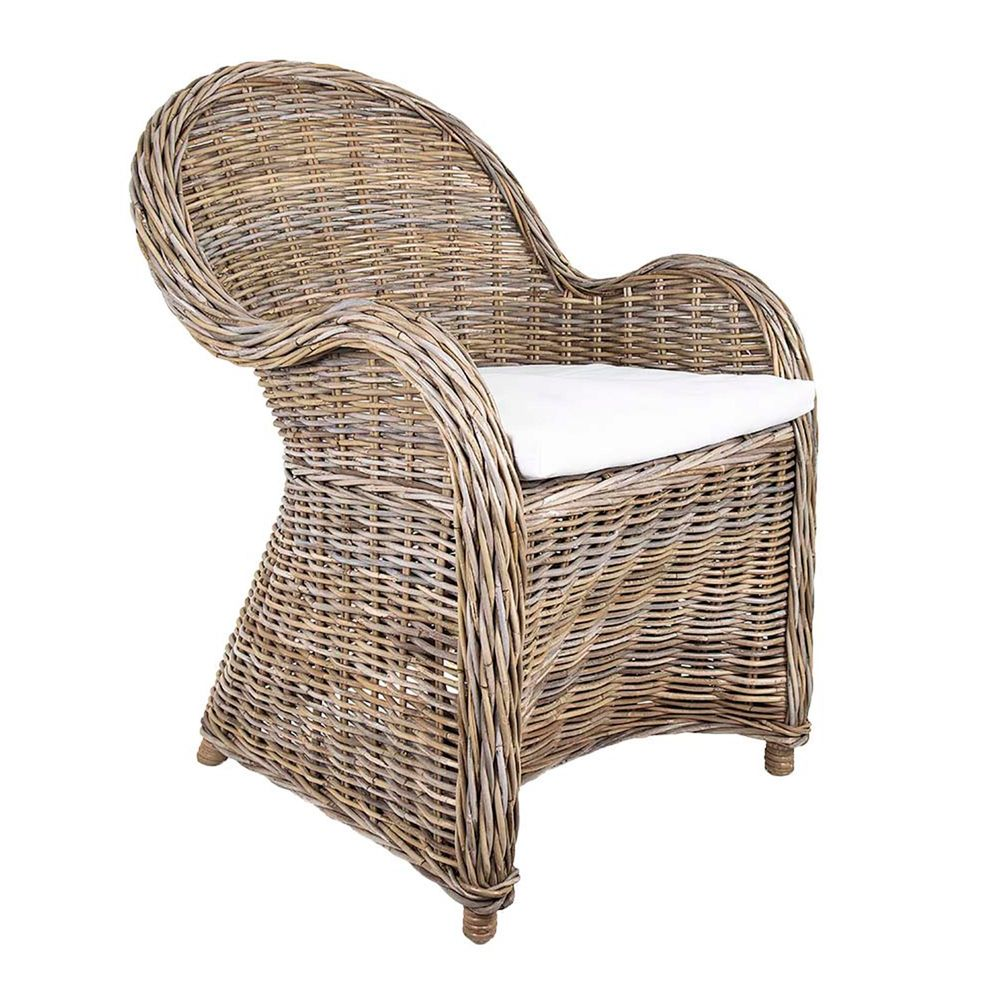 Long Island Wicker Chair with Cushion