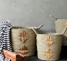 Load image into Gallery viewer, Handwoven Seagrass Baskets