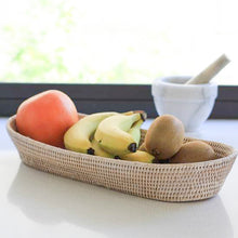 Load image into Gallery viewer, Oval Bread Basket in White Wash