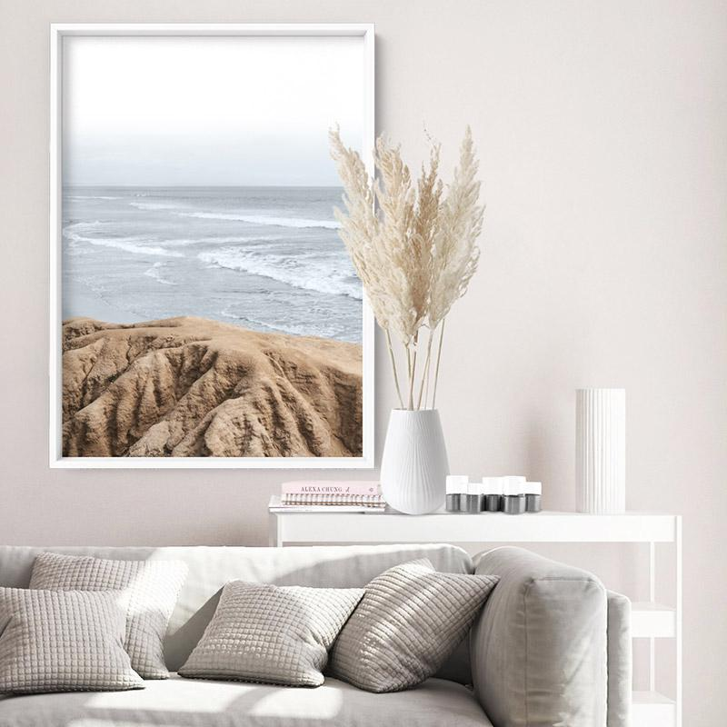 Ocean View from Rocky Coast - Art Print