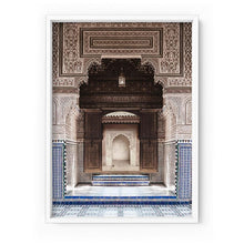 Load image into Gallery viewer, Ornate Carved Arch Passage Morocco - Art Print