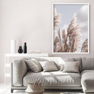 Pampas Grass I in Pastels - Art Print