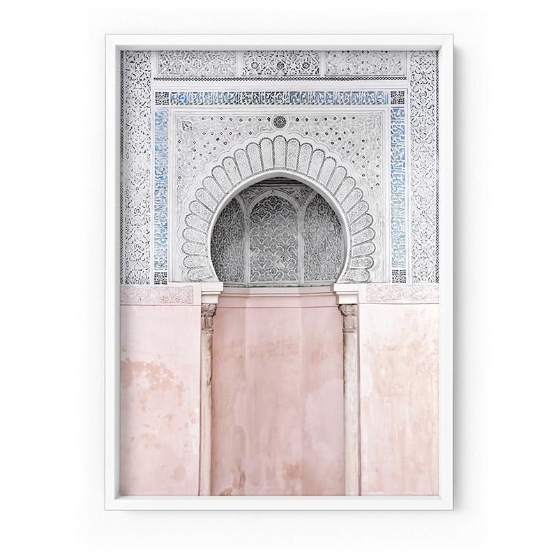 Pastel Arch Fountain Morocco - Art Print
