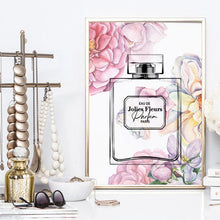 Load image into Gallery viewer, Pastel Rainbow Floral Perfume Bottle - Art Print