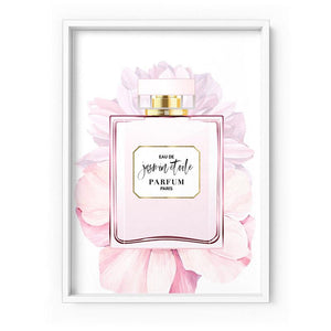 Perfume Bottle Floral III - Art Print