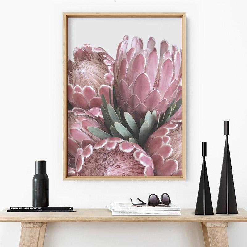 Queen Protea Stack - Art Print