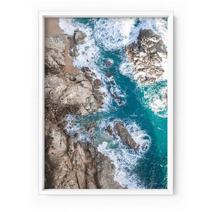 Rocky Coast from Above II - Art Print