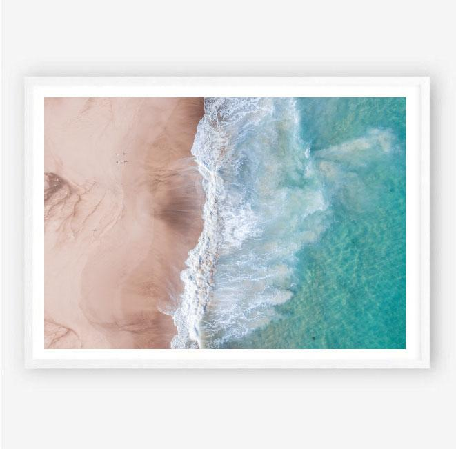Sand and Surf Aerial Photography Print