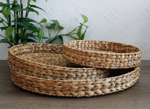 Water Hyacinth Round Trays