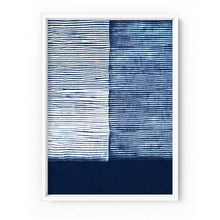 Load image into Gallery viewer, Shibori Indigo Tie Dye V - Art Print