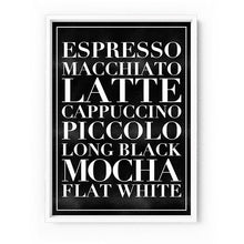 Load image into Gallery viewer, The Coffee List - Art Print