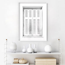 Load image into Gallery viewer, White on White Coastal Window - Art Print