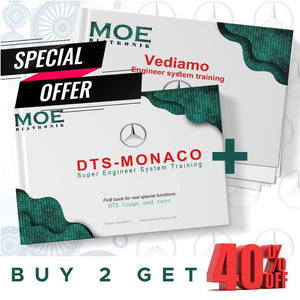 Moe Vediamo and DTS Monaco Engineer System Training Books Combination Sale