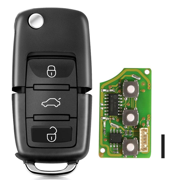 XHORSE XKB501EN Wired Universal Remote Key Volkswagen B5 Type 3 Buttons