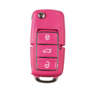 Xhorse XKB502EN VVDI2 Wire Flip Remote Key 3 Button Pink