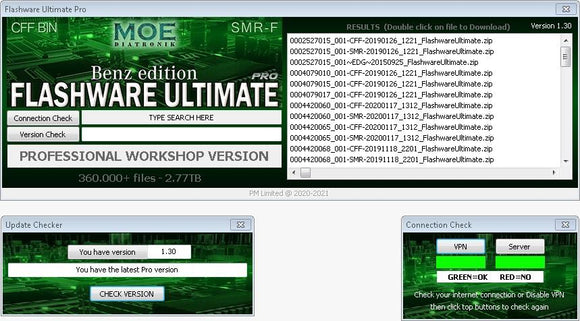 Flashware Ultimate Pro for all Mercedes Benz workshops