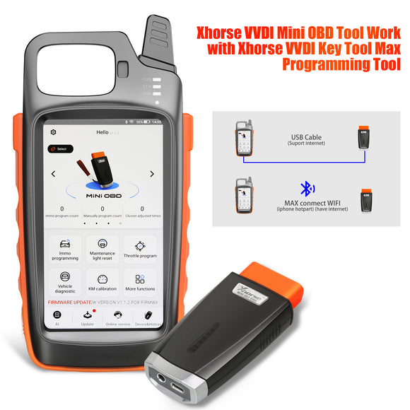 Xhorse VVDI Key Tool Max with MINI OBD2 Get Free Renew Cable Free Express Shipping