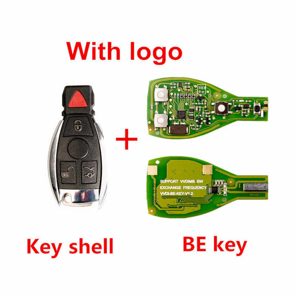 Xhorse Benz Be Pro Key PCB with 3Button Benz Key Shell with Panic