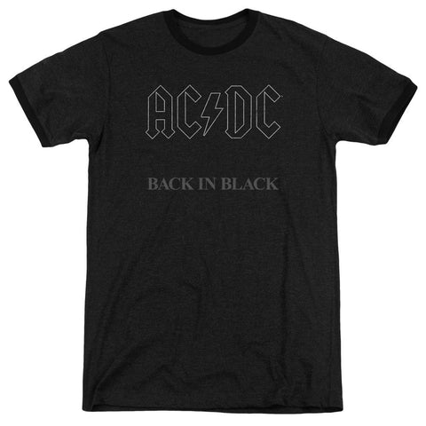 Acdc - Back In Black Adult Heather - Punchy